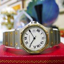 Cartier Santos Octagon Men's Stainless Steel 18k Gold 30mm...