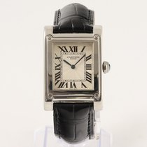 Cartier Platinum Manual winding White Roman numerals 27mm pre-owned Tank (submodel)