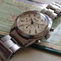 """Rolex 6238 Chronograph """"white dial / big rolex"""" Pre-Daytona –..."""