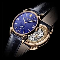 Cuervo y Sobrinos Rose gold Manual winding Blue Arabic numerals 40mm new