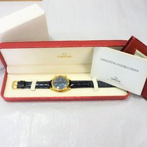 Omega Yellow gold Automatic Blue 37mm pre-owned Speedmaster Date