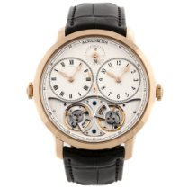 Arnold & Son DBG Rose gold 44mm Silver Roman numerals