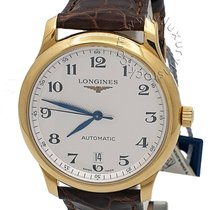Longines Yellow gold Automatic Silver Arabic numerals 38,5mm new Master Collection