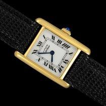 Cartier Tank Vermeil Gold/Steel 21mm White Roman numerals