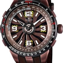 Perrelet Turbine Pilot Steel 48mm Brown Arabic numerals