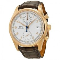 IWC Portuguese Chronograph Red gold 42mm White Arabic numerals