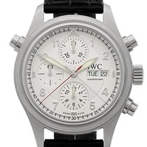 IWC Pilot Double Chronograph Otel 42mm Argint