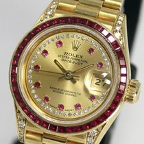 Rolex DATE JUST Ladies baguette cut Ruby original 69028LR