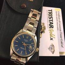 Rolex Date Vintage Steel-Gold Dial Blue