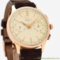 Zenith Rose gold Manual winding Arabic numerals 37mm pre-owned