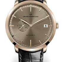 Girard Perregaux 1966 DATE AND SMALL SECONDS Pink Gold Dial...