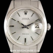 Rolex Stainless Steel Silver Dial Oyster Date Precision...
