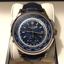 Patek Philippe Weißgold Automatik Blau Keine Ziffern 39.5mm neu World Time Chronograph