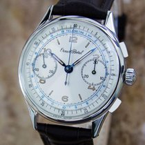 Ernest Borel 1950s Swiss Made 34mm Mens Stainless Steel...