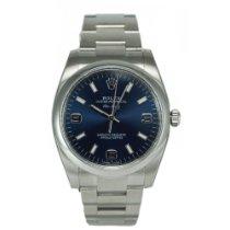 劳力士  (Rolex) Oyster Perpetual Air King Silver Blue Dial 114200