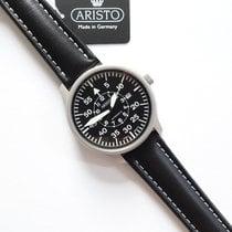 Aristo Navigator Steel 42mm Black Arabic numerals