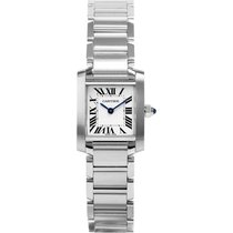 Cartier Tank Française Steel 20mm Silver Roman numerals United States of America, New York, New York