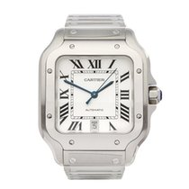 Cartier 40mm Automatic 2018 new Santos (submodel) White