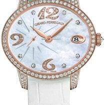 Girard Perregaux nuevo Automático Pequeño segundero Con piedras preciosas y diamantes 35.40mm Oro rosa