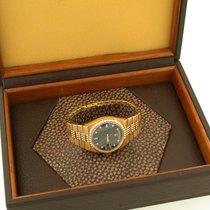 Rolex Day-Date Oysterquartz Gelbgold 35mm Schwarz