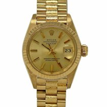 Rolex Lady-Datejust tweedehands 26mm Champagne Datum Geelgoud