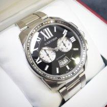 Cartier Calibre de Cartier Chronograph Сталь 42mm Черный Римские