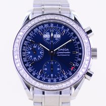 Omega Speedmaster Ladies Chronograph Steel 40mm Blue No numerals