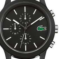 Lacoste Plastic Quartz Black 44mm new