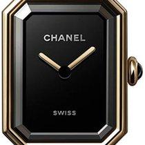 Chanel Or jaune Quartz Noir 19.5mm nouveau Première
