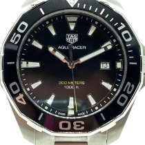 TAG Heuer Aquaracer Steel 43mm Black No numerals United States of America, New York, NEW YORK
