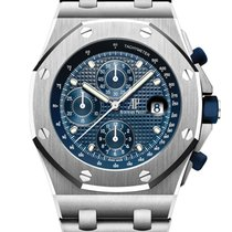 Audemars Piguet Steel Automatic Blue No numerals 42mm new Royal Oak Offshore Chronograph