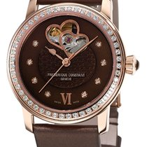 Frederique Constant Ladies Automatic Double Heart Beat 38.5mm Maron