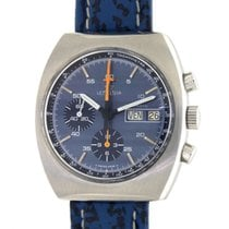 Lemania Chronograph Vintage Day Date Steel,