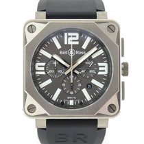 Bell & Ross BR0194-TI-PRO Titanium Chronograph Full set from...