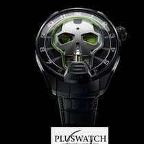 HYT Skull Watch Green Eye 151TD41GFAB 51mm T