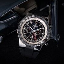 Breitling Bentley GMT Stahl 49mm Schwarz Keine Ziffern