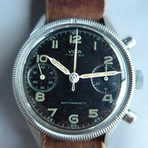 Vixa pre-owned Manual winding 39mm Black Plexiglass