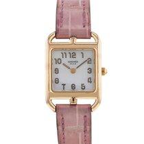 Hermès Rose gold Quartz Mother of pearl Arabic numerals 20mm pre-owned Cape Cod