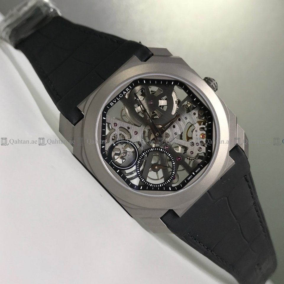 the latest 4c6c6 889d5 Bulgari - Octa Finissimo BGO40TLXTSK Skeleton Dial Titanium ...