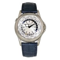 Patek Philippe World Time White gold 37mm Silver United States of America, New York, New York