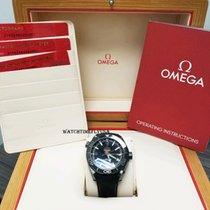 Omega Керамика Автоподзавод Чёрный Aрабские 45.5mm новые Seamaster Planet Ocean