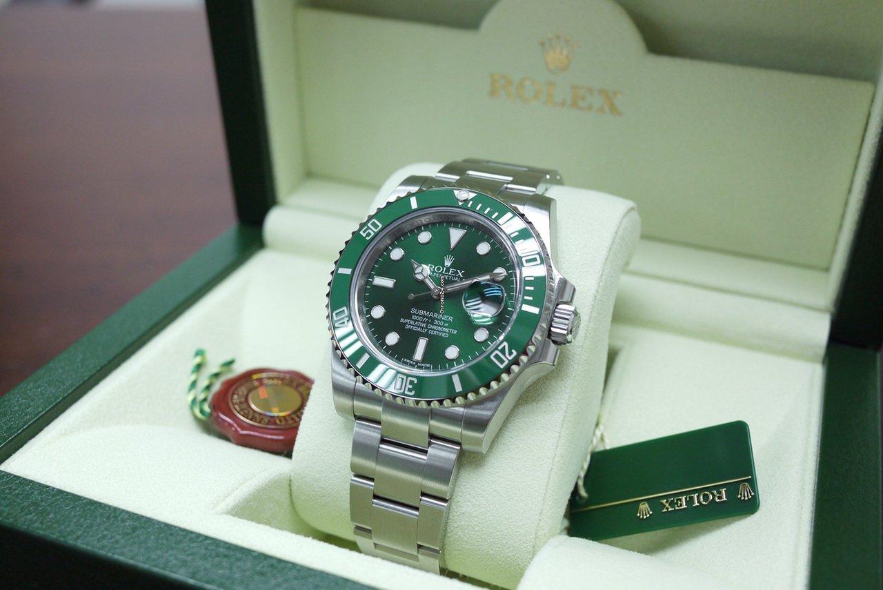 Rolex Submariner Green Bezel & Green Dial 116610LV for ...