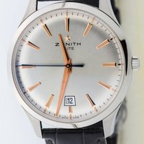 Zenith Captain Central Second Acier 40mm Argent