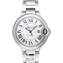 卡地亚  Ballon Bleu de Cartier Silver/Steel 33mm - W6920071