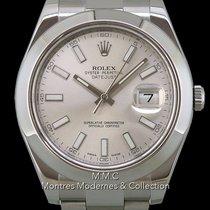 Rolex Datejust II Ocel 41mm Stříbrná Bez čísel