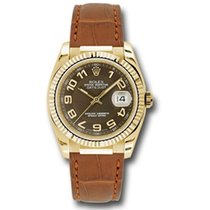 Rolex Datejust 36mm - Gold Yellow Gold - Fluted Bezel - Leather