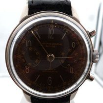 Chronographe Suisse Cie vintage white dial landeron