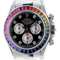 Rolex Cosmograph Daytona in Steel with Rainbow Diamond Bezel...