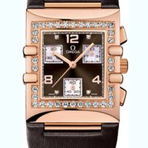 Omega Constellation Quadra Chronograph Rose Gold Ladies Watch