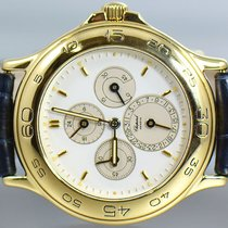 Chopard Yellow gold Automatic White No numerals 34mm pre-owned Mille Miglia